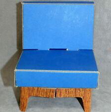 Barbie 1960s Furniture Dream House Cardboard Vintage Excellent Chair Blue