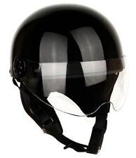 [ Black ] Shield Helmets Half Face Vintage Motorcycle Motorbike