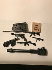Action figure guns and accessories Lot, military, some Gi Joe some other