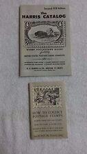 """2 Vintage """" Stamp Catalogs """" Harris 1958 &The Philatelic Institute 1955"""