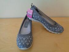 New SKECHERS EZ Flex 3.0 Size 7 Wild N' Free Gray Memory Foam Slip-On Shoes $60
