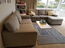 Lounge Sofa Suite Freedom Biege Fabric
