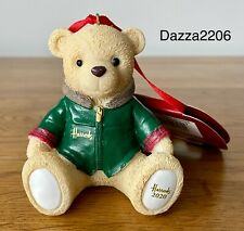 HARRODS 2020 NICHOLAS RESIN BEAR CHRISTMAS TREE DECORATION. BRAND NEW WITH TAGS.