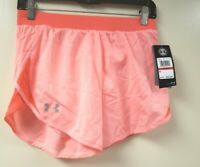 Under Armour Women's Fly By 2.0 Running Shorts , Beta Full Heather/Reflective..