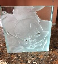Cruella DeVil Paper Weight Robert Guenther Signed Le Etched Glass