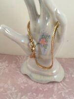Vintage Jewellery Gold Chain Bracelet Antique Deco Jewelry 18.5 cm