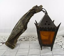 Antique French Gothic Gargoyle Wall Sconce Griffin Chimera