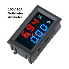 New DC 100V 10A Voltmeter Ammeter Blue + Red LED Digital Volt Meter Gauge
