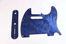 Textured blue Aluminum Pickguard/Control Cover set- Fits Fender Tele Telecaster