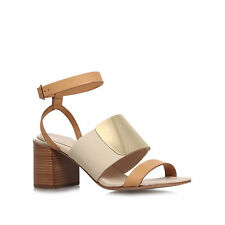 See By Chloe Tan Leather Block Mid Heel Sandals Size 5 EU 38 Brand New