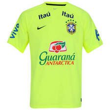 Brazil National Team CBF Neon Green Training Jersey Soccer Futebol Player Ed