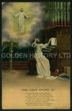 THE LOST CHORD (3) RELIGIOUS ANGEL CHURCH ORGAN PICTURE POSTCARD POSTED