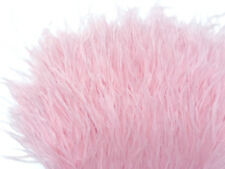 6 Inch Strip - Baby Pink Ostrich Fringe Trim Feather Millinery Carnival Supply