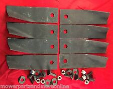 4pr John Deere 42 Inch Ride on Lawn Mower Blades For Most Blade Conversion Kits