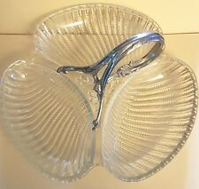 plat cristal art déco métal argenté