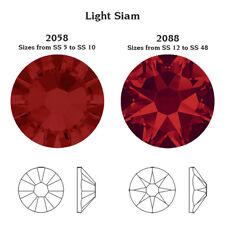 Swarovski Crystals Glue on 100 x SS16 Light Siam Red rhinestones diamantes gems