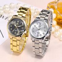 Women Delicate Small Stainless Steel Band Analog Quartz Round Dress Wrist Watch