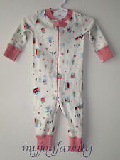HANNA ANDERSSON Baby Organic Zip Sleeper Little Village Newborn Premie NWT