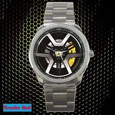 New Black HSV GTS Car Rim Wheel Racing Sport Metal Watch Wristwatches Unisex