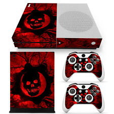 Xbox One S Skin Design Foils Sticker Screen Protector Set - Red Skull Motif