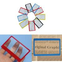 10X Portable Ultra-thin Credit Card Pocket Magnifier Lens Sheet Glass Magnifying