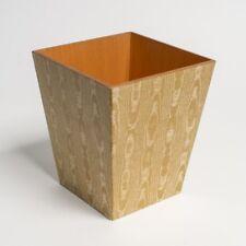 Luxury Gold waste paper bin wooden handmade in UK