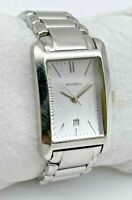 Women's FOSSIL Silver Tone Rectangle Dress/Casual Watch, Date, Quartz, PR-5267