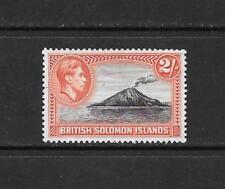 1939 King George VI SG69 2s. Black & Orange  Mint Hinged SOLOMON ISLANDS
