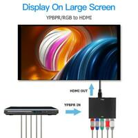 YPBPR to HDMI 1080P to RGB Component Video +R/L Audio Adapter Converter