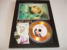 LADY GAGA SIGNED  GOLD CD  DISC  15