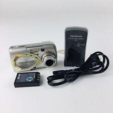 Olympus Stylus 410 Digital 4.0MP Digital Camera - Silver With Charger