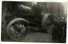 More details for old postcard traction engine accident real photo vintage c.1910 - late use 1959
