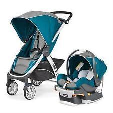 Chicco Bravo Trio Travel System KeyFit Stroller Infant Baby Car Seat (Polaris)