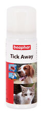 Beaphar Tick Away 50ml Non-Toxic Spray Freezes Ticks For Easy Removal Cat Dog