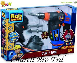 BRAND NEW BOB THE BUILDER 3 IN 1 TOOL SETS