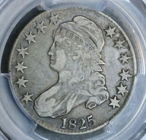 1825 50C Capped Bust Silver Half Dollar PCGS VF30 O-112 Very Fine VF
