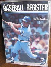 "1981 TSN ""Baseball Register"", 620 pages, George Brett Cover, Royals, Phillies"