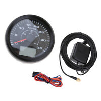 Marine Boat Auto GPS Speedometer Speed Meter Gauge 85mm 35 Knots 9-32V Black