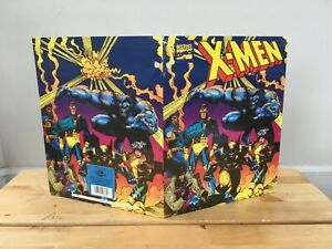 Vintage 1992 X-Men Folder- 90s Saturday Morning Cartoons, GI Joe, Marvel, DC :)