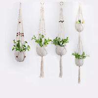 Macrame Plant Hanger Flower Pot Holder Gardenpot Lifting Rope Home Decoration