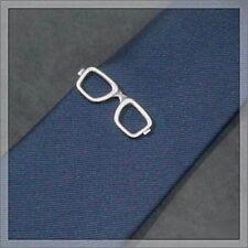 ISHOKUYA Unique Tie Clasps & Tacks Eyeglasses Shape Tie Clip/Pin/Bar Brand New
