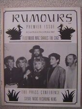 "Fleetwood Mac ""Rumours"" Fan Club Magazine Premier Issue Nov 1987 28 Pages Mint"