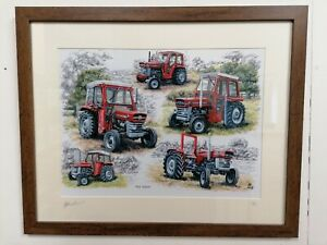 Large A3 Picture Print History Massey Ferguson 100 Series Tractors Ltd 1/250