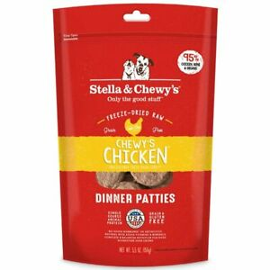 Stella and Chewy's Freeze-Dried Raw Chicken Dinner Patties for Dogs 5.5 ounce