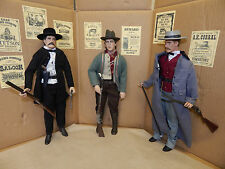 "1/6 scale Wyatt Earp,Holiday & Billy The Kid SIX GUN LEGENDS 12"" FIGURES RARE"