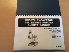 Kubota K008 Ersatzteilliste
