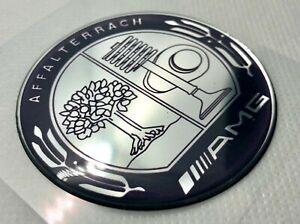 Mercedes AMG Affalterrach Abzeichen Logo 3D gewölbte Aufkleber. Silber. 60mm
