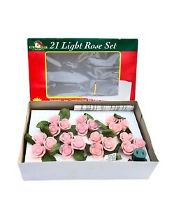 Kurt Adler Pink Rose Lights 21 light string New in Box