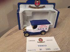 Oxford Diecast Tesco Fresh Milk Gold Wheels Bullnose Morris Limited