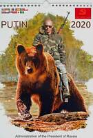 2020 PREMIUM VLADIMIR PUTIN RIDES ON A BEAR  WALL CALENDAR ORIGINAL BEST GIFT